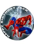 7.5 Spiderman Personalised Edible Icing or Wafer Paper Cake Top Topper